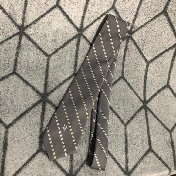 Dior Other - Dior Grey Striped Tie